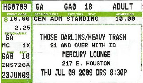 Heavy Trash - The Mercury Lounge, New York City, NY, US (9 July 2009)