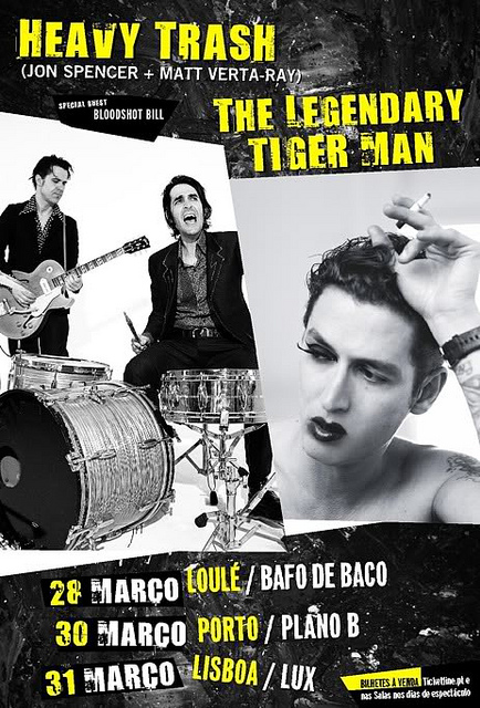Heavy Trash - Portugal Tour Poster (28-31 March 2010)