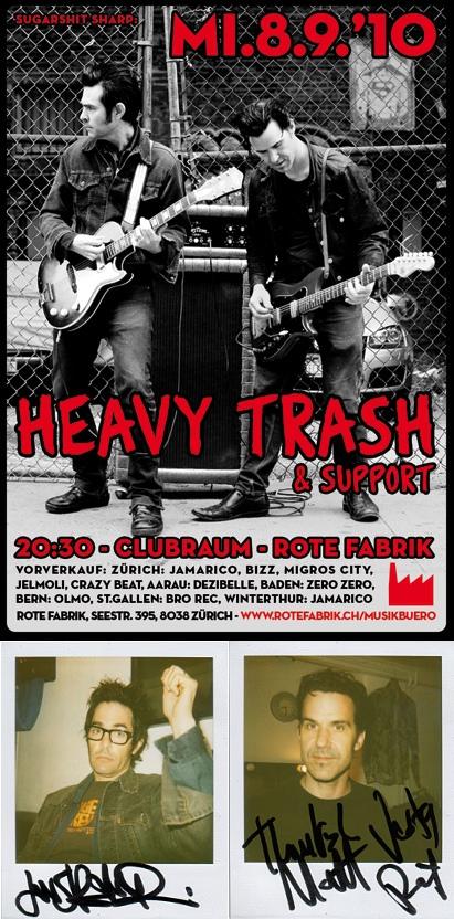 Heavy Trash - Rote Fabrik, Zurich, Switzerland (8 September 2010)
