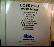 Boss Hog - Rough Demos [Promo] (CD, US)