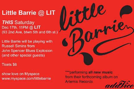 Little Barrie - Lit, New York City, NY, US (15 December 2005)