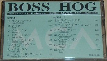 Boss Hog [Promo] (CASSETTE, JAPAN) - Cover