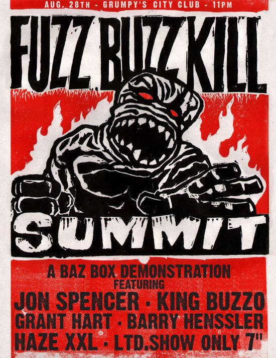Fuzz Buzz Kill Summit - A Buzz Box Demonstration, Grumpy's Bar & Grill, Minneapolis, MN, US (28 August 2010)