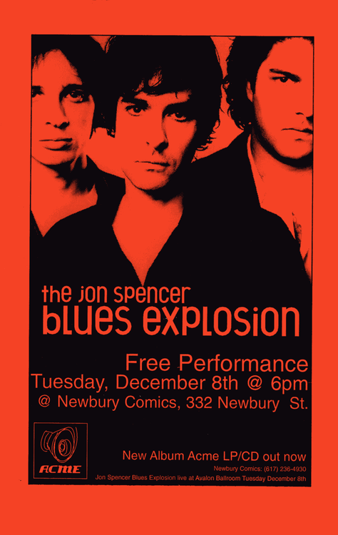 The Jon Spencer Blues Explosion - Newbury Comics, Boston, MA, US (8 December 1998)