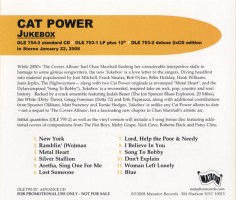 Cat Power - Jukebox [Yellow] [Promo] (CD, US) - Rear