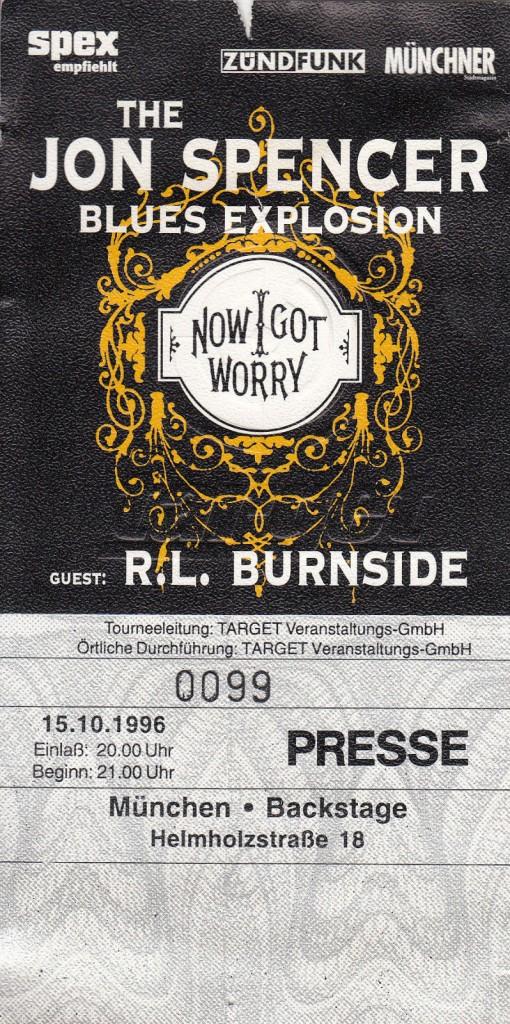 The Jon Spencer Blues Explosion - Backstage, Munchen, Germany (15 October 1996)