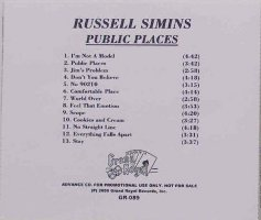 Russell Simins – Public Places [Promo] [CDR] (CD, US) - Rear