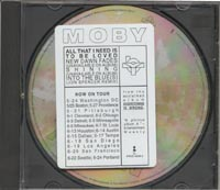 Moby - All That I Need Is To Be Love [Promo] (CD, US) - Front