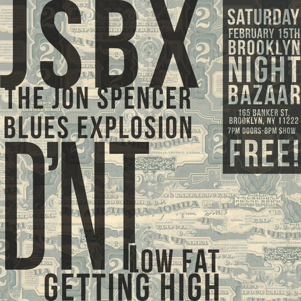 The Jon Spencer Blues Explosion - Brooklyn Night Bazaar, Brooklyn, NY, US (15 February 2014)
