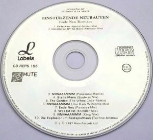 Einstürzende Neubauten - Ende Neu Remixes [Promo] (CD, FRANCE)