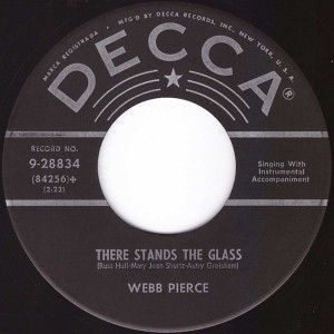"""Webb Pierce - There Stands The Glass (7"""", US)"""