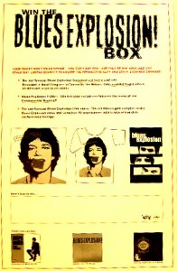 The Jon Spencer Blues Explosion - Win The Blues Explosion Box (POSTER, US)