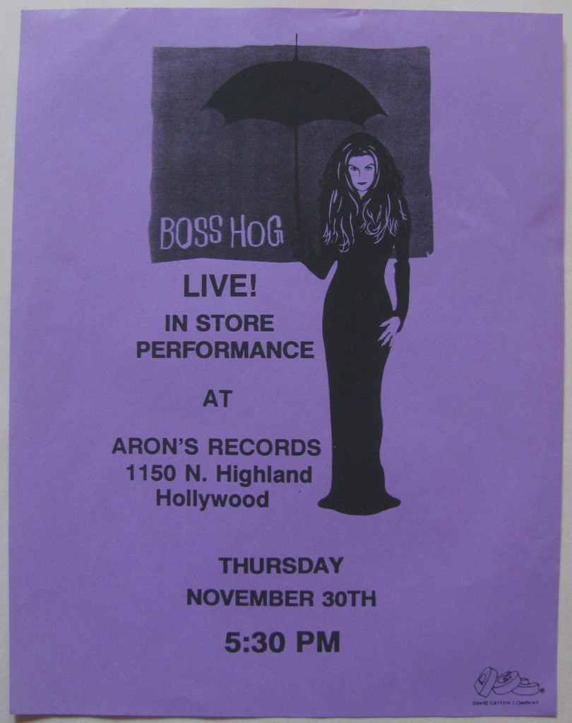 Boss Hog - Aron Records, Los Angeles, CA, US (30 November 1995)