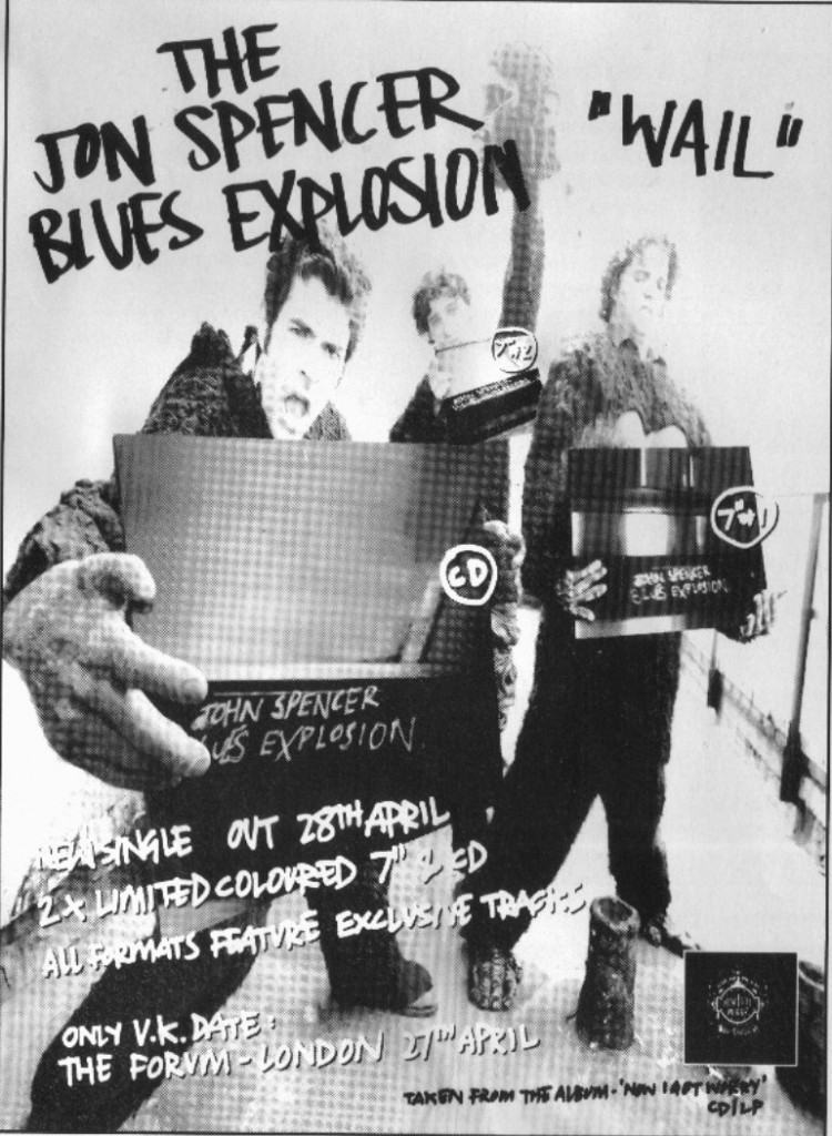 The Jon Spencer Blues Explosion - Wail (ADVERTISEMENTS, UK)