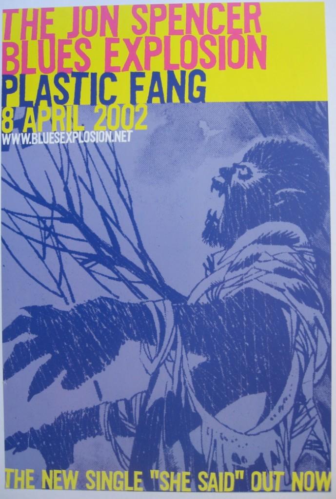 The Jon Spencer Blues Explosion - Plastic Fang (POSTER, UK)