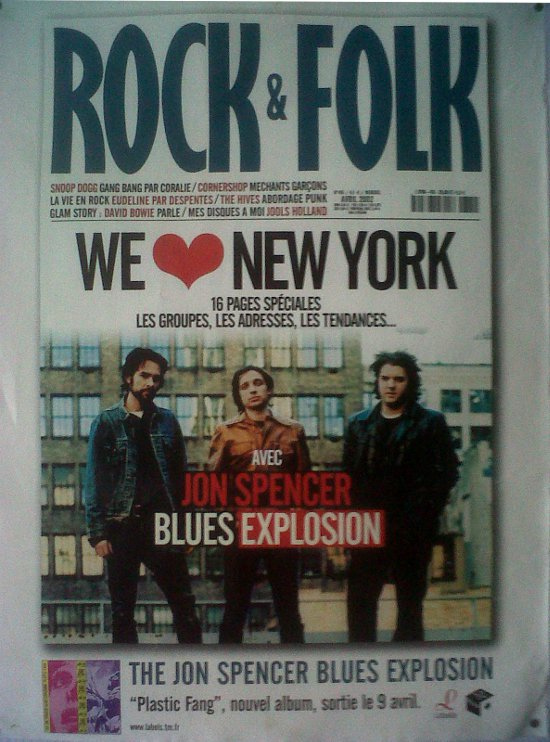 Jon Spencer Blues Explosion - Rock & Folk (POSTER, FRANCE)