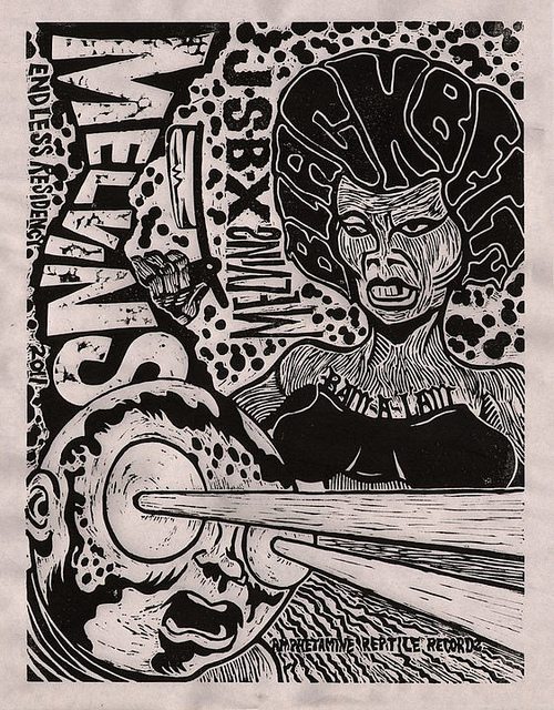 Melvins /  The Jon Spencer Blues Explosion -  Black Betty (POSTER, US) - b/w Print