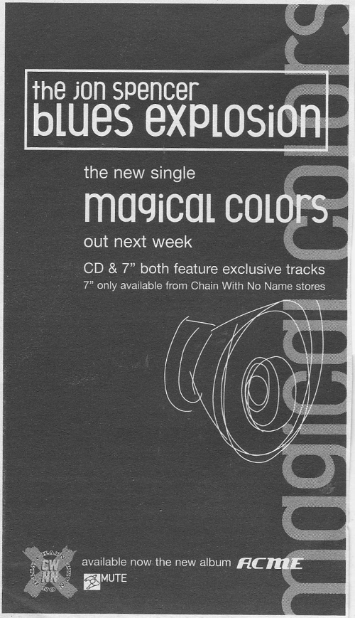 The Jon Spencer Blues Explosion - Magical Colors (ADVERTISEMENT, UK)