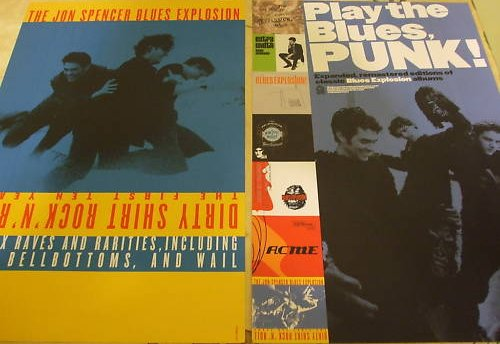 The Jon Spencer Blues Explosion - Dirty Shirt Rock 'n' Roll / Reissues (POSTER, UK) - Front / Rear