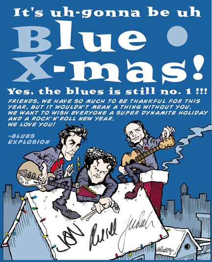 Blues Explosion - Blue X-Mas (POSTER, US)