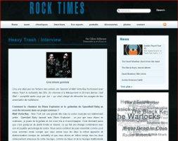 Heavy Trash - Rock 'n' Roll Times: Interview (PRESS, FRANCE)