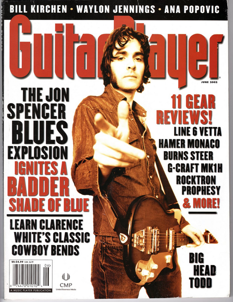 The Jon Spencer Blues Explosion - Guitar Player: Cover / Feature (PRESS, US)