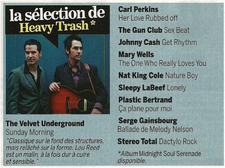 La Selection De Heavy Trash (PRESS, FRANCE)