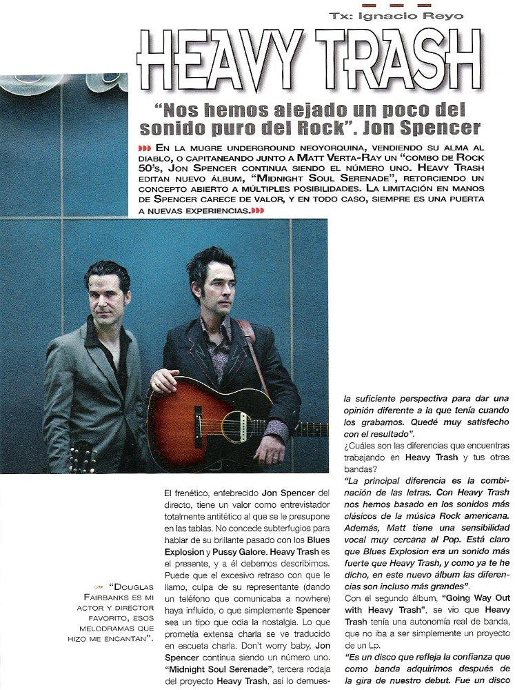 Heavy Trash - Popular 1: Interview (PRESS, SPAIN)