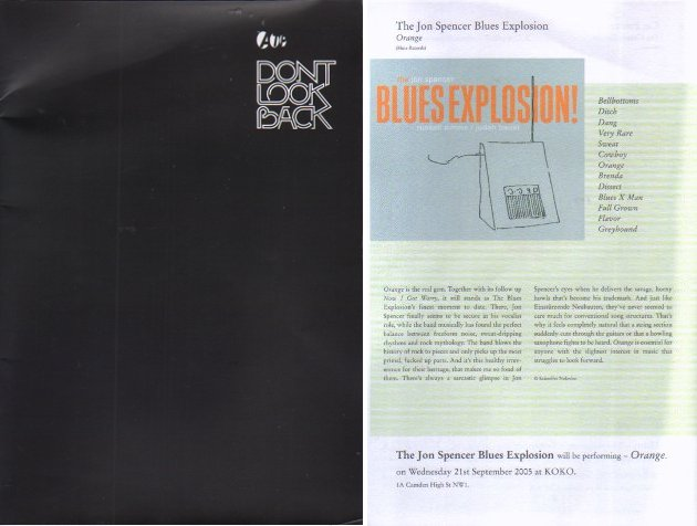 V/A feat. The Jon Spencer Blues Explosion - Don't Look Back (PRESS, UK)