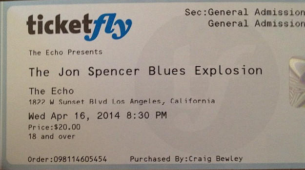 The Jon Spencer Blues Explosion - The Echo Los Angeles, CA, US (16 April 2014)