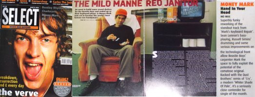 Money Mark - Select: The Mild Mannered Janitor / Hand In Your Head (PRESS, UK)