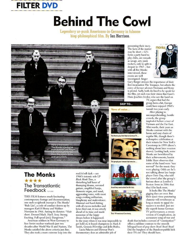 The Monks - MOJO: The Transatlantic Feedback [Review] (PRESS, UK)