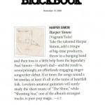 Black Book: Harper Simon [Review] (PRESS, US)