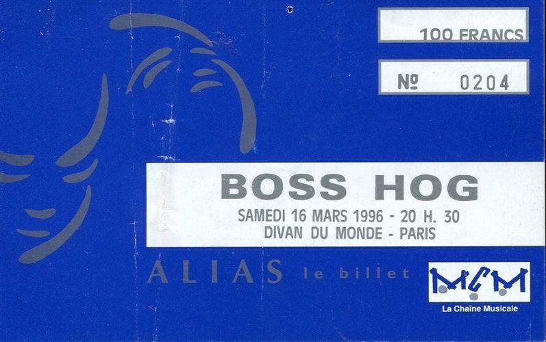 Boss Hog - Divan Du Monde, Paris, France (16 March 1996)