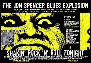 The Jon Spencer Blues Explosion - Shakin' Rock 'N' Roll Tonight (ADVERT, UK)