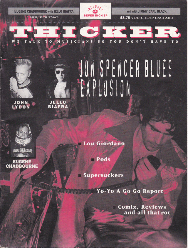The Jon Spencer Blues Explosion - Thicker: Cover / Interview (PRESS, US) - Cover