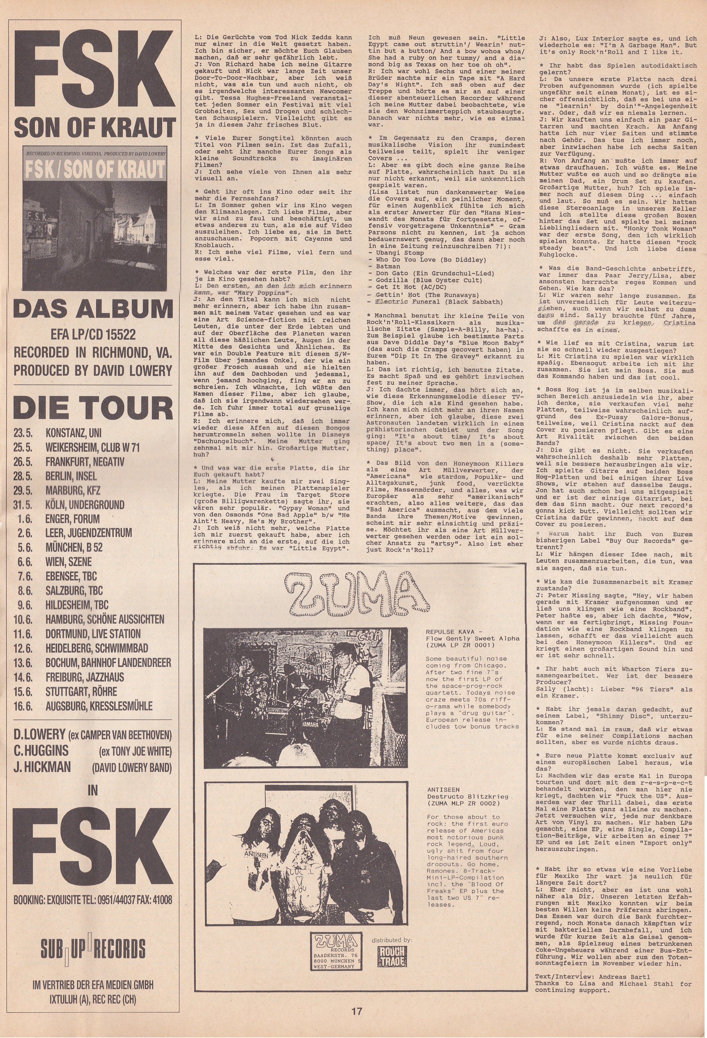 Honeymoon Killers - Howl!: Feature (PRESS, GERMANY) - Page 2