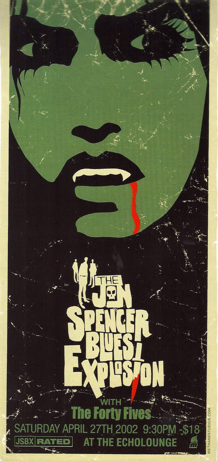 The Jon Spencer Blues Explosion - Echo Lounge, Atlanta, GA, US (27 April 2002)