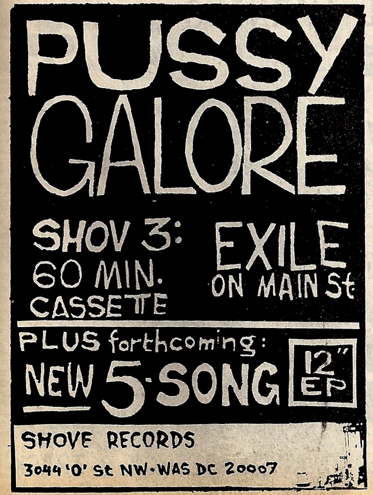 Pussy Galore - Exile on Main St. (ADVERTISEMENT, US)