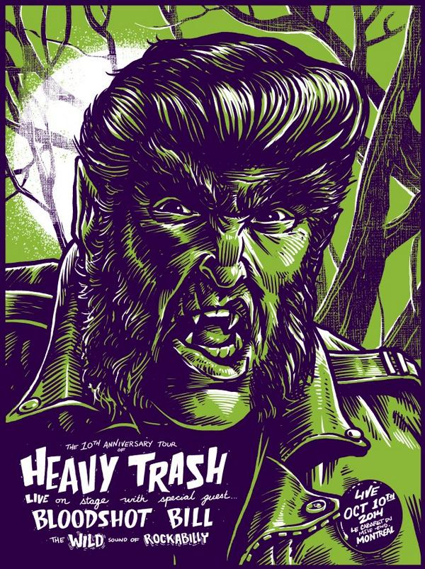 Heavy Trash – Le Cabaret du Mile End, Montreal, QC, Canada (10 October 2014)