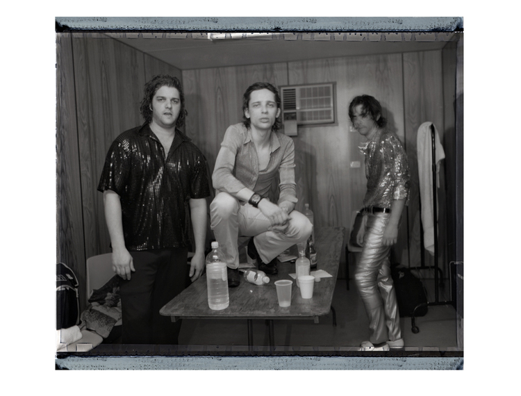 The Jon Spencer Blues Explosion - Blues Festival, Byron Bay, Australia (2 April 1999) - Russell Simins / Judah Bauer / Jon Spencer