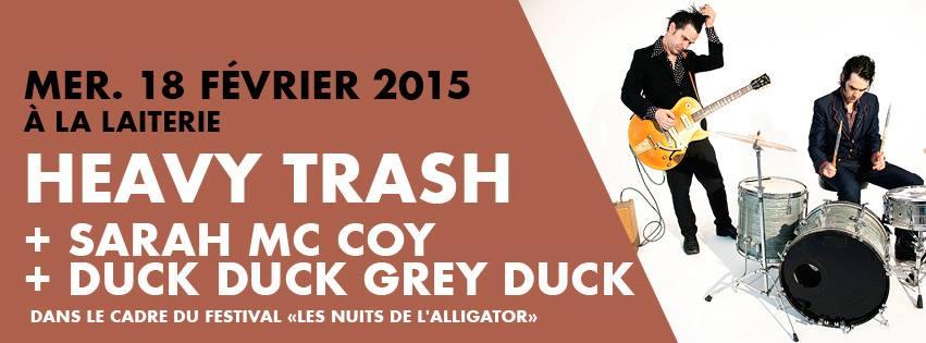 Heavy Trash – La Laiterie, Strasbourg, France (18 February 2015)