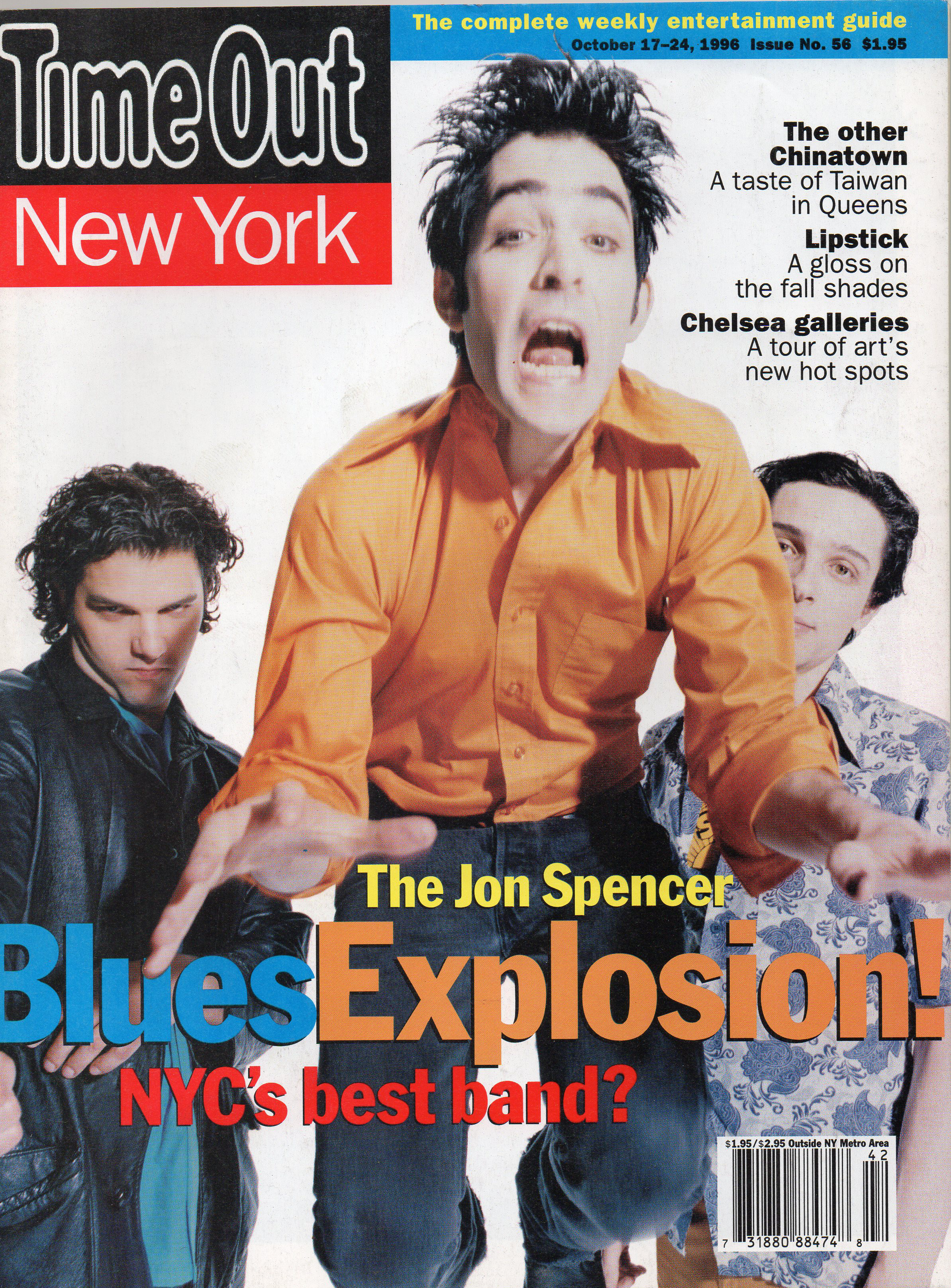 The Jon Spencer Blues Explosion - Time Out: Even White Boys Get The Blues (PRESS, US) - Cover
