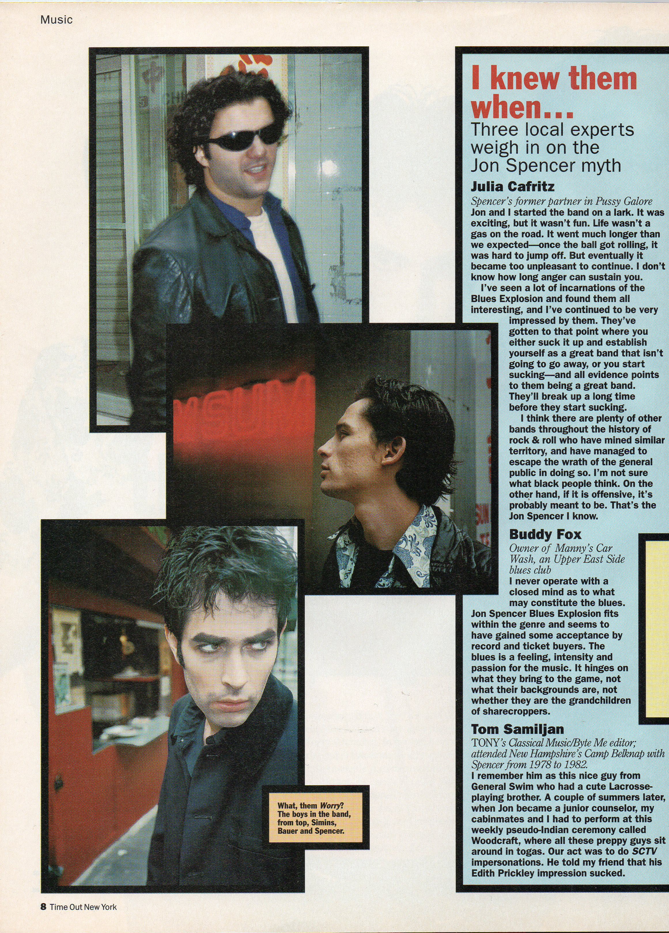 The Jon Spencer Blues Explosion - Time Out: Even White Boys Get The Blues (PRESS, US) - Page Three