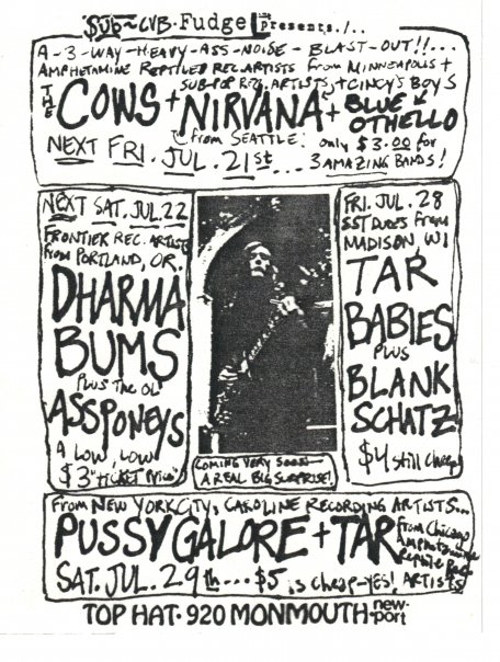 Pussy Galore – Top Hat, Newport, KY, US (29 July 1989)