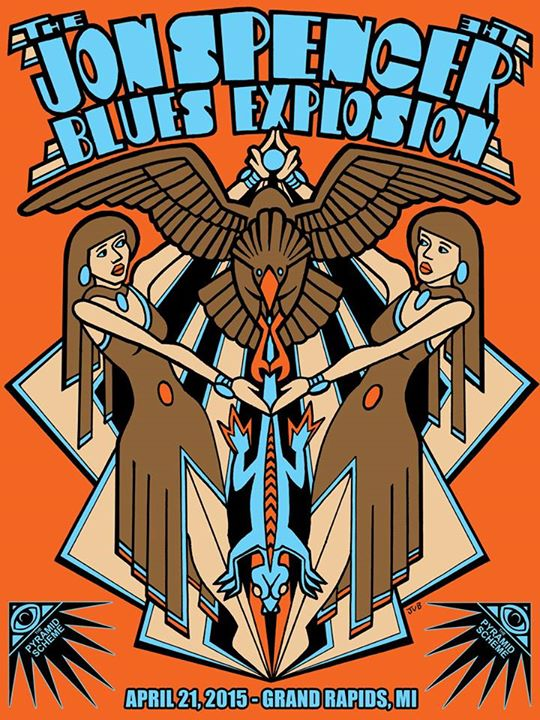 The Jon Spencer Blues Explosion -  Pyramid Scheme, Grand Rapids, MI, US (21 April 2015)