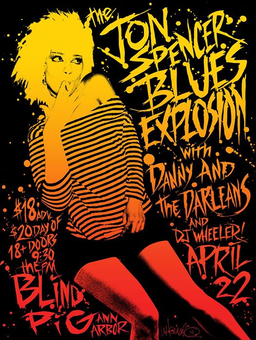 The Jon Spencer Blues Explosion - Blind Pig, Ann Arbor, MI, US (22 April 2015)