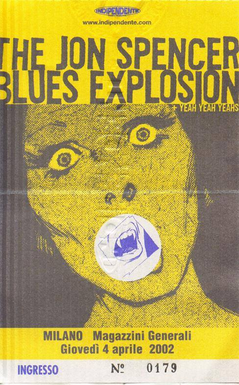 The Jon Spencer Blues Explosion - Magazzini Generali, Milan, Italy (4 April 2002)