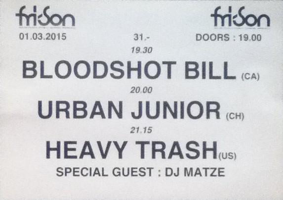 Heavy Trash – Fri-Son, Fribourg, Switzerland (1 March 2015)