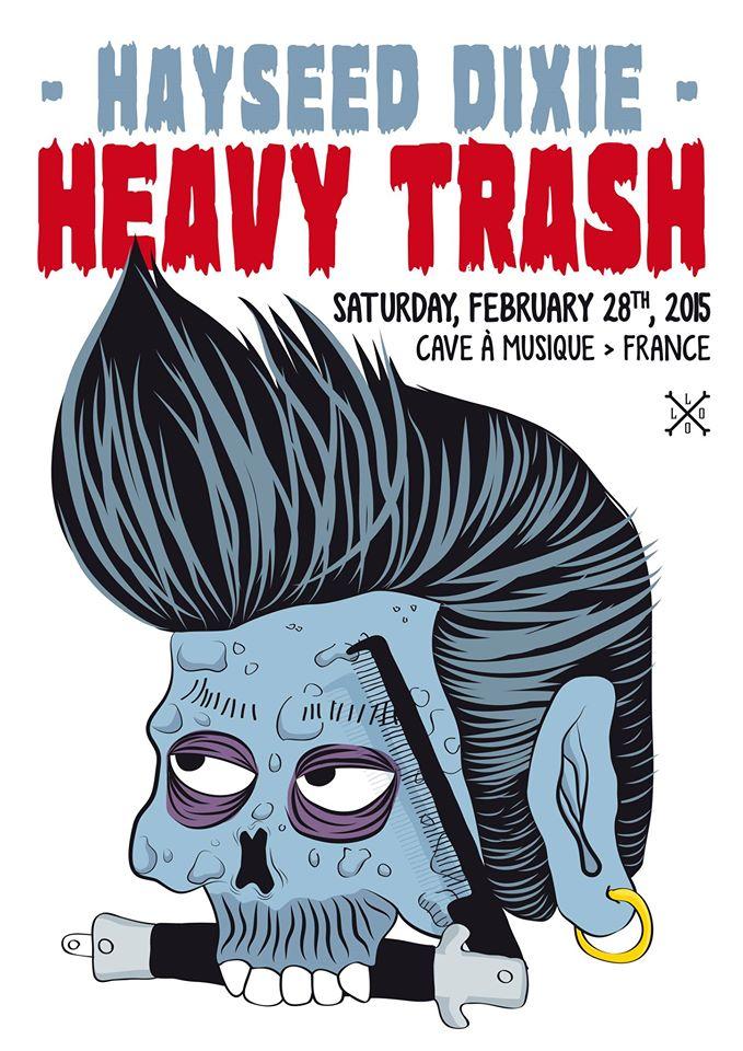 Heavy Trash - La Cave a Musique, Mâcon, France (28 March 2015)